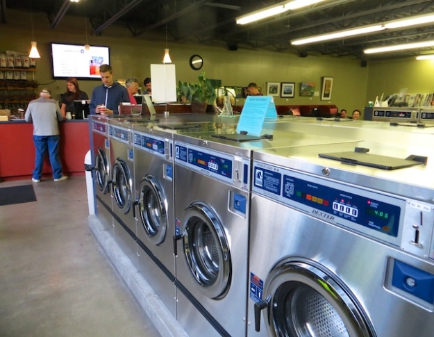 Wash your clothes while you savour a fabulous java at SnowDome Coffee Bar in Jasper, Alberta