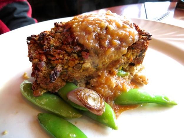 A moist flavourful lentil loaf