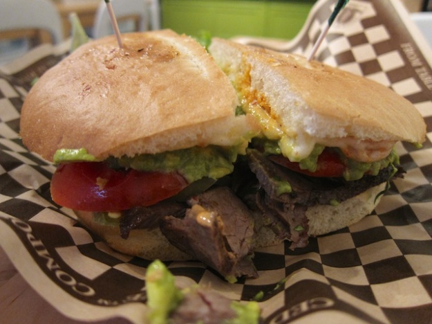 A loaded, tender flank-steak torta