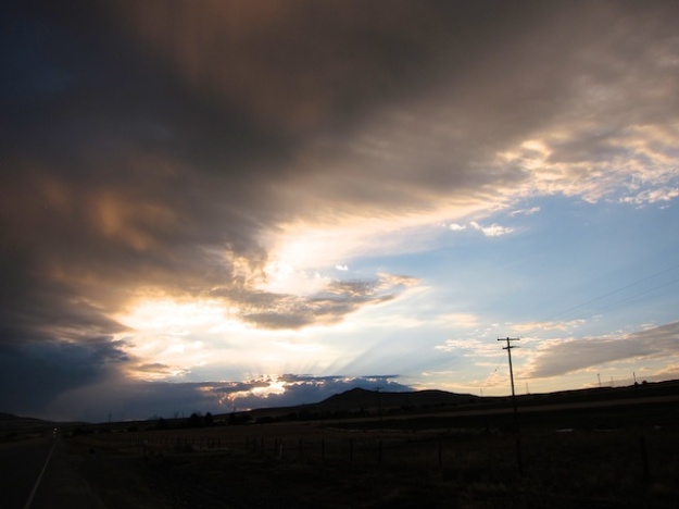 A passing storm near Logan, Utah