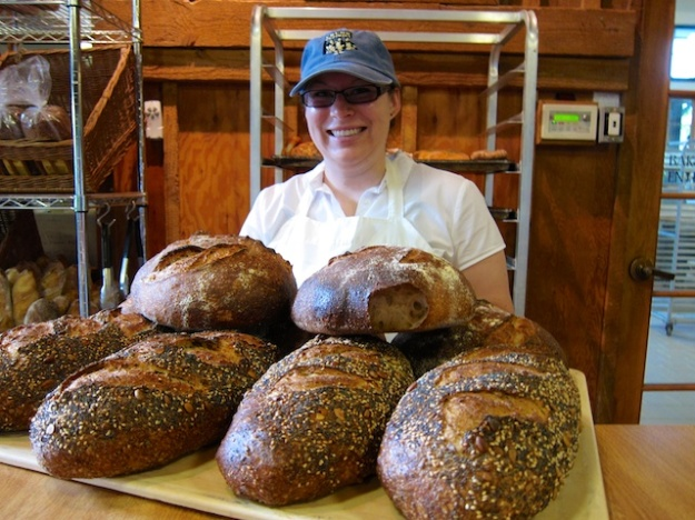 Fresh-from-the-oven bread at Crumb Brothers Artisan Bakery in Logan, Utah