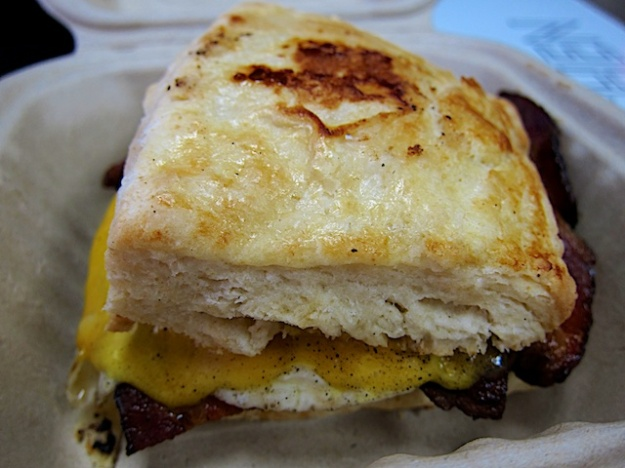 A great, inexpensive breakfast biscuit