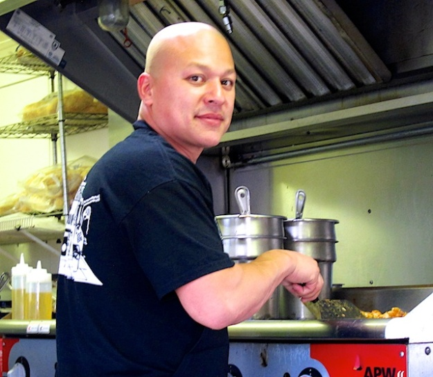 Chef Felix Sanchez mixing Mexican and Asian influences at his El Fat Cat Grill truck Asian fare