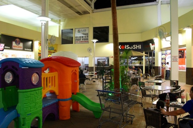 There's the sushi spot, at the back of this fast-food court next to a Walmart