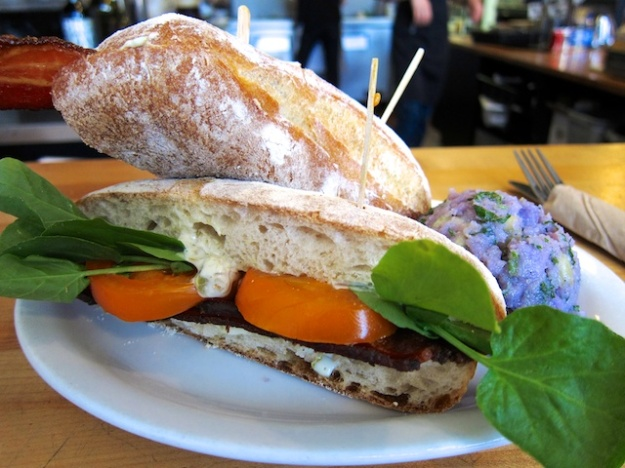This simple but superb BLT at Magpie Cafe in Sacramento, California was one of the best sandwiches I ate in 2014