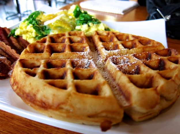 Waffles are pretty traditional but certainly enticing looking