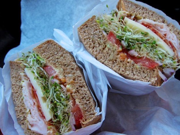 It's hard to stop eating a sandwich this good. But, really, half should be enough, right?
