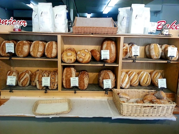 A fine roster of sourdough loaves to choose from at Boulangerie Bonjour