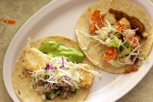 You're on the ocean, so you have to go with the fresh seafood tacos