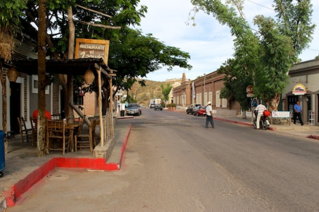The quiet, charming streets of Todos Santos