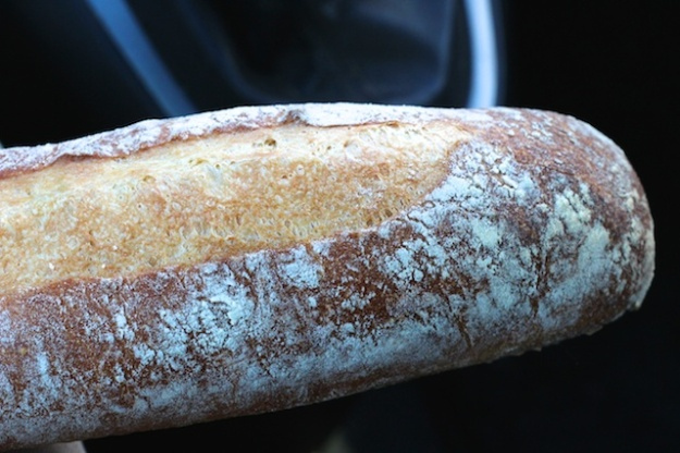 I just want to tear into this sourdough baguette
