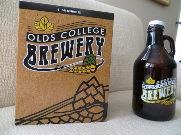 A growler of oatmeal stout and a six pack of mix-and-match bottles