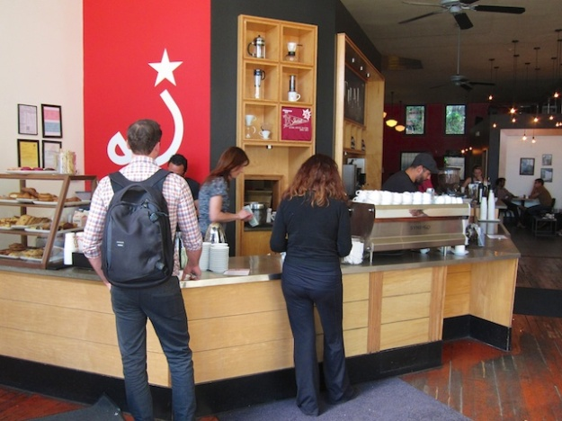 Lining up for the morning fix at Ritual Coffee
