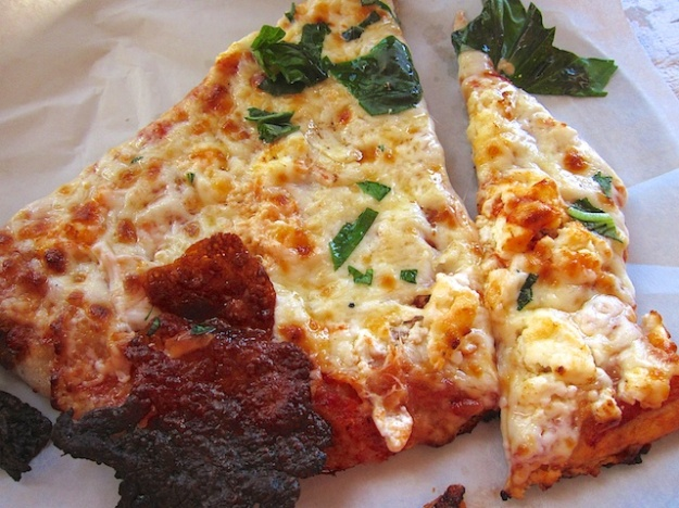 Pizza slice of the day at Arizmendi Bakery
