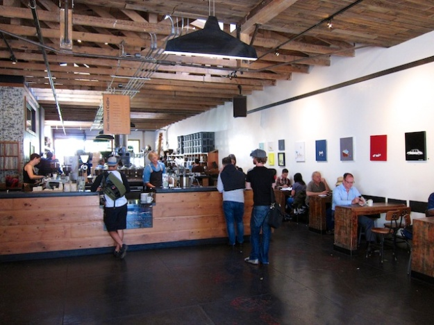 The flagship Four Barrel Coffee shop and roaster is a laid-back place to savour a java