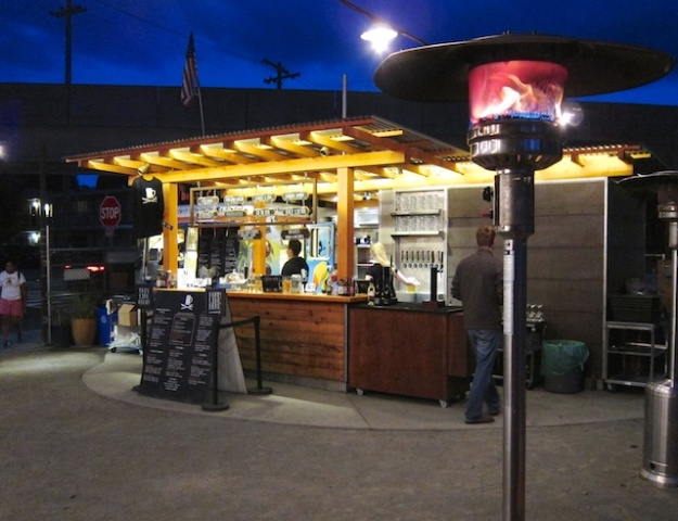Walkup food cart and beer garden at Brazil Cafe in Berkeley, California