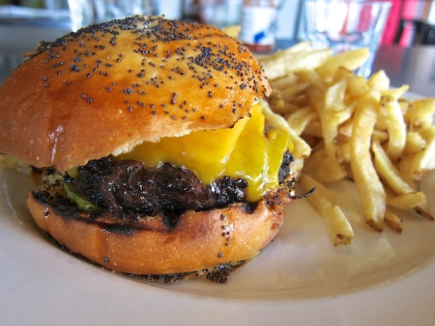 Citizen's Band ups the burger ante with a medium-rare Kobe patty, tomato marmalade and challah bun