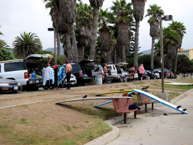 Surfers of all ages and sizes congregate on Ventura's beaches