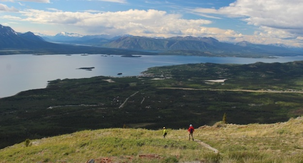 Monarch Mountain hike boasts a fabulous view over Atlin Lake and the town of Atlin, B.C.