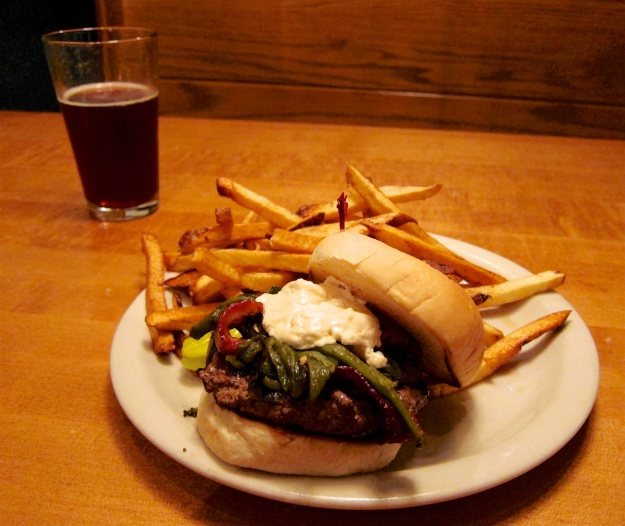 A succulent burger and fries at Mountain Sun in Boulder, Colorado will set you back about $13 (US)
