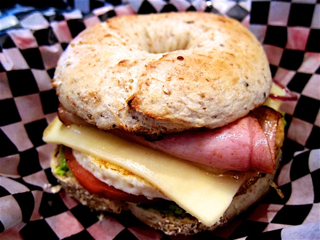 A delicious breakfast sandwich at Big Bang Bagels in Fernie, B.C.
