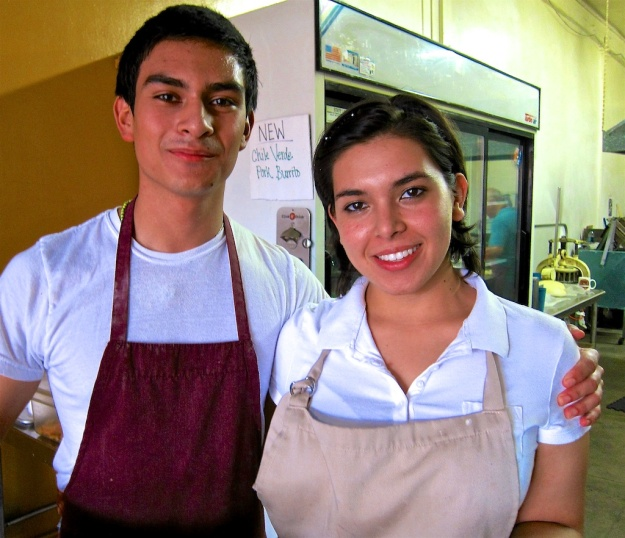 Siblings Chris and Cynthia Villa help run the family show at Los Angeles's renowned La Azteca Tortilleria