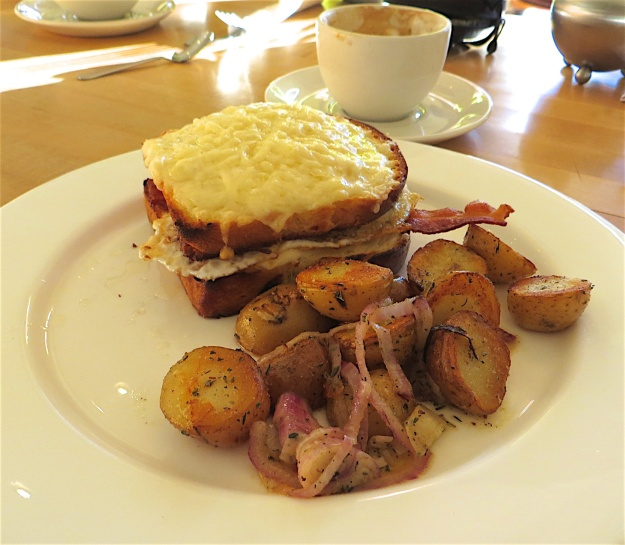 The brioche bread makes this scintillating croque monsieur at Calgary's Manuel Latruwe bakery