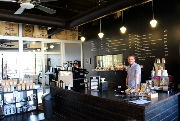 RAVE Coffee is a great Canmore place to pick up fresh-roasted beans or savour a pour-over