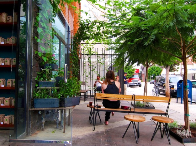 Blacktop Coffee is a leafy oasis in the lovely, historic Arts District