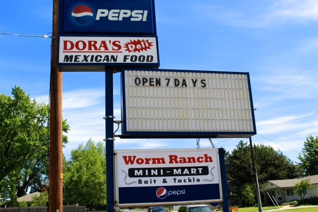 Dora's Deli has a unique combination: Mexcian food and fishing worms