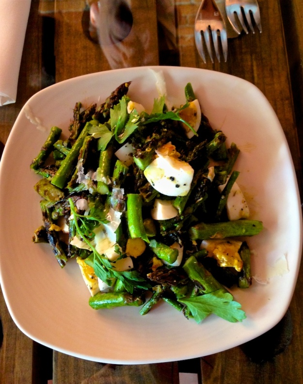 A grilled asparagus salad was the perfect start to a fabulous meal at Saffron Mediterranean Kitchen in Walla Walla, Washington
