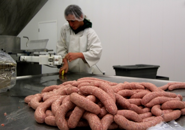Meadow Creek produces its sausage in its attached, federally inspected facility