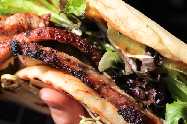 The pork belly Naanwich was a delectable, filling meal