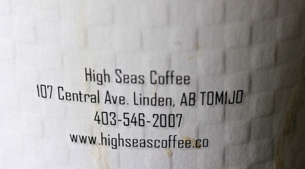 High Seas Coffee is in the middle of central Alberta farmland