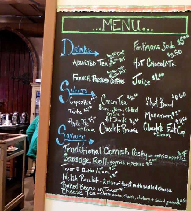A short but diversified menu, with a British bent