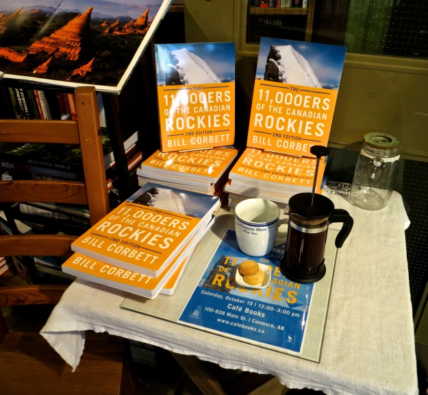 A shameless promotion of a book signing I was doing at Cafe Books while savouring a lovely French-press pot of coffee