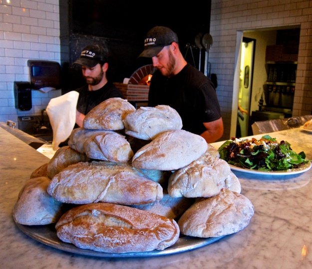 Pizza isn't the only bread product pulled from the wood-fired oven