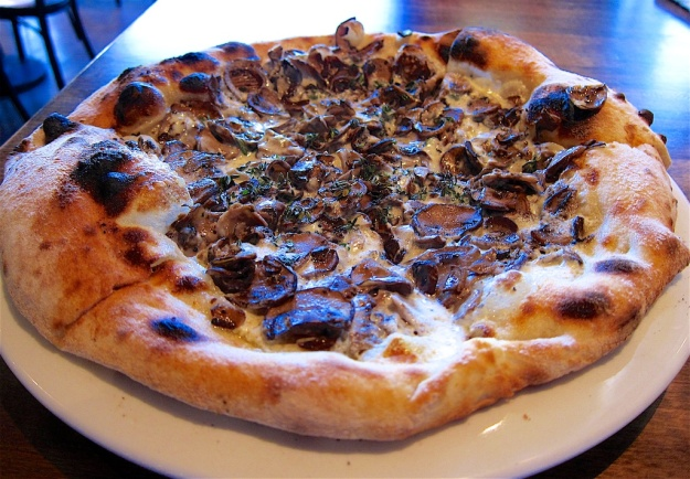 Nicely blistered pie at Centro Woodfired Pizza in Cedar City, Utah